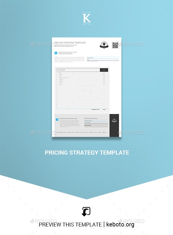 Pricing Strategy Template - Miscellaneous Print Templates