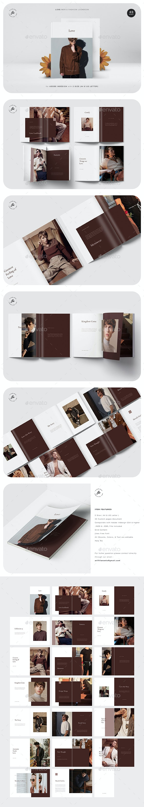 Love Men's Fashion Lookbook - Magazines Print Templates