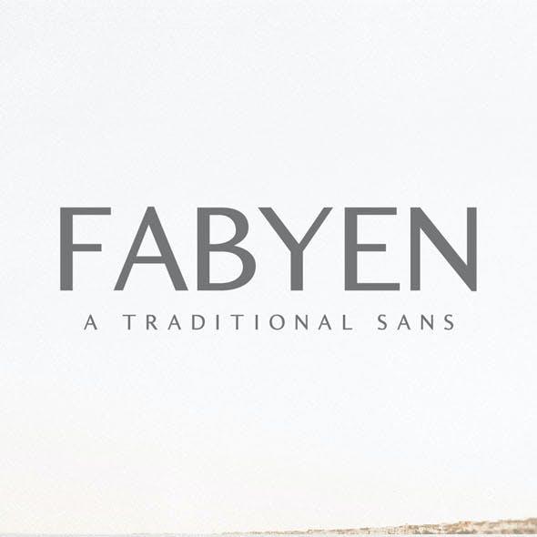 Fabyen A Traditional Sans Font Pack