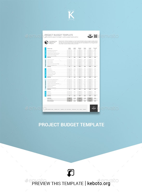 Project Budget Template - Miscellaneous Print Templates