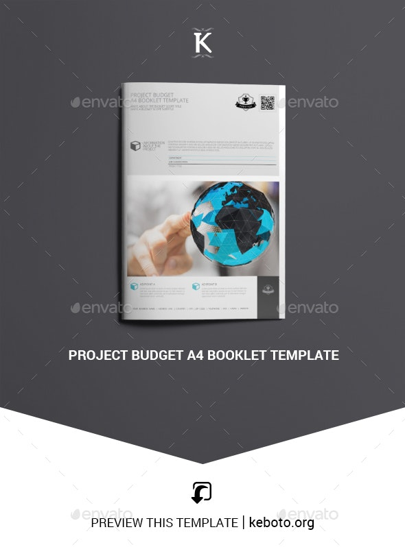 Project Budget A4 Booklet Template - Miscellaneous Print Templates