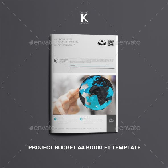 Project Budget A4 Booklet Template