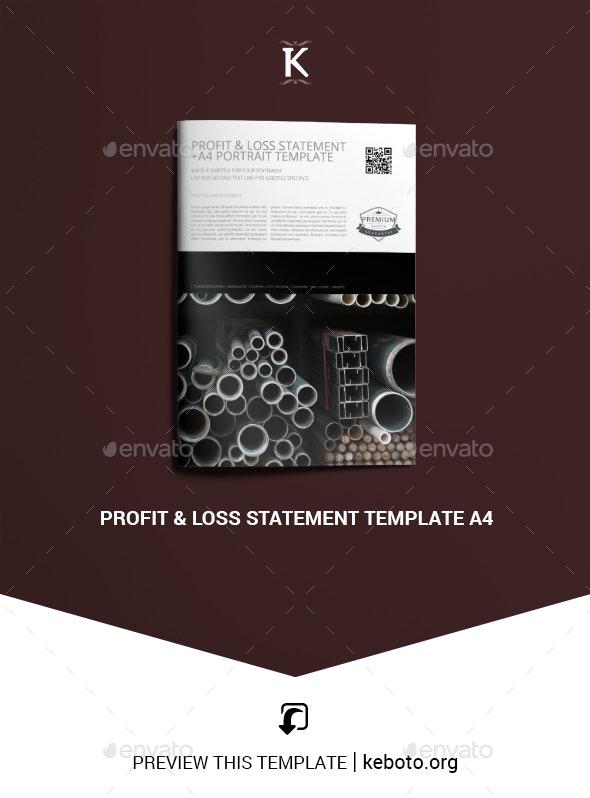 Profit & Loss Statement Template A4 - Miscellaneous Print Templates
