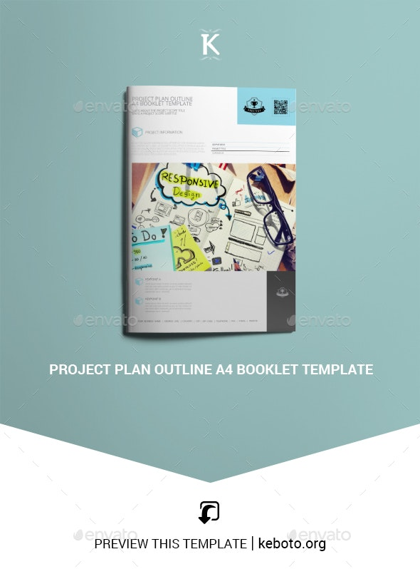 Project Plan Outline A4 Booklet Template - Miscellaneous Print Templates