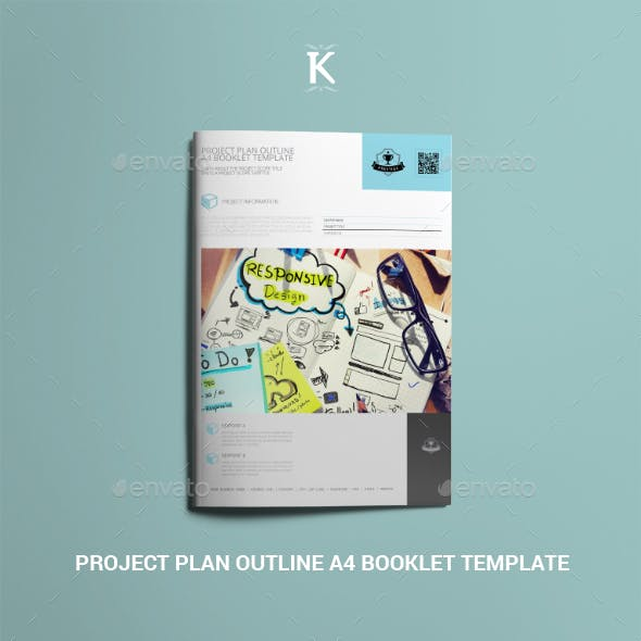 Project Plan Outline A4 Booklet Template