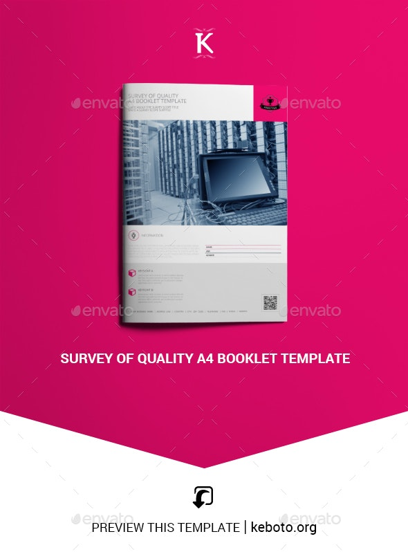 Survey of Quality A4 Booklet Template - Miscellaneous Print Templates