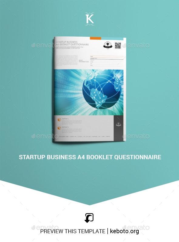 Startup Business A4 Booklet Questionnaire - Miscellaneous Print Templates
