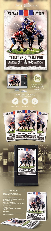 Football Playoffs Flyer Template - Sports Events