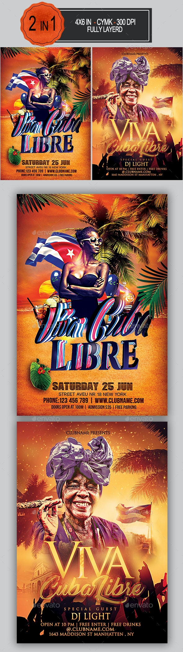 Viva Cuba Libre Flyer Bundle - Clubs & Parties Events