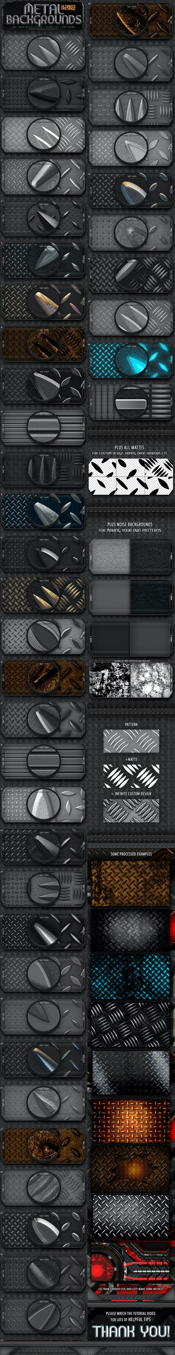 Metal Background Patterns - Miscellaneous Textures / Fills / Patterns