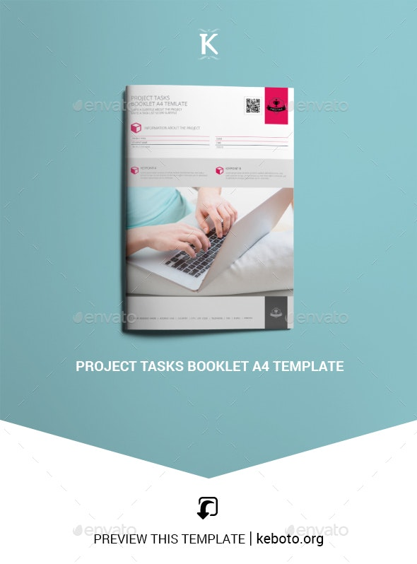 Project Tasks Booklet A4 Template - Miscellaneous Print Templates