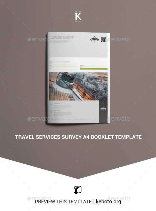 Travel Services Survey A4 Booklet Template - Miscellaneous Print Templates