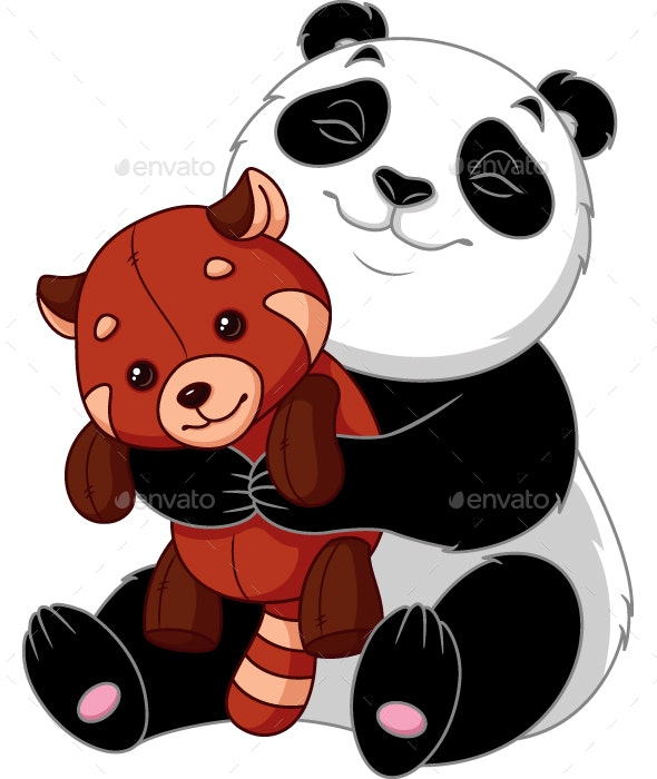 Panda with a Toy - Animals Characters