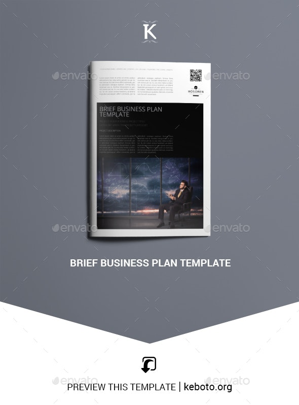 Brief Business Plan Template - Miscellaneous Print Templates