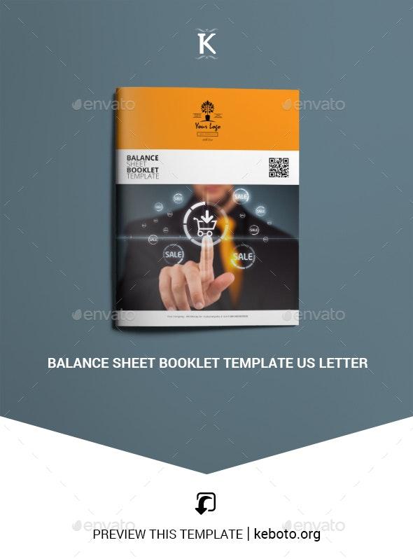 Balance Sheet Booklet Template US Letter - Miscellaneous Print Templates