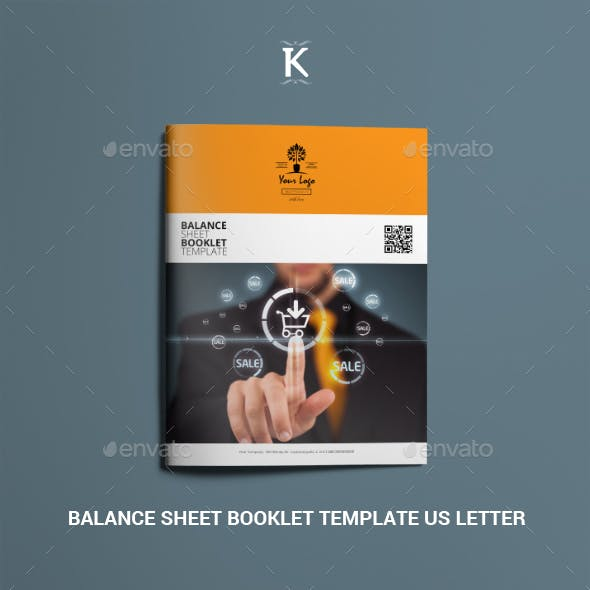 Balance Sheet Booklet Template US Letter