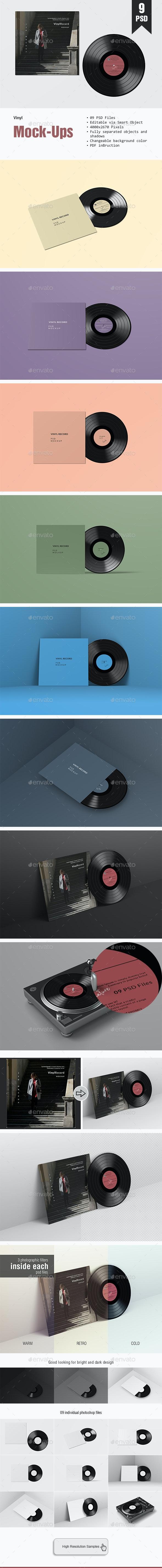 Vinyl PSD Mockup - Miscellaneous Print