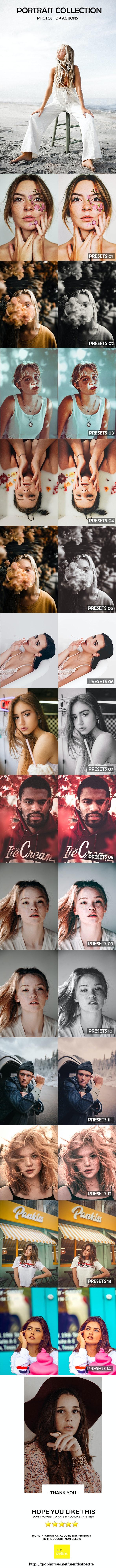 Pro Portrait Photoshop Actions - Photoshop Add-ons