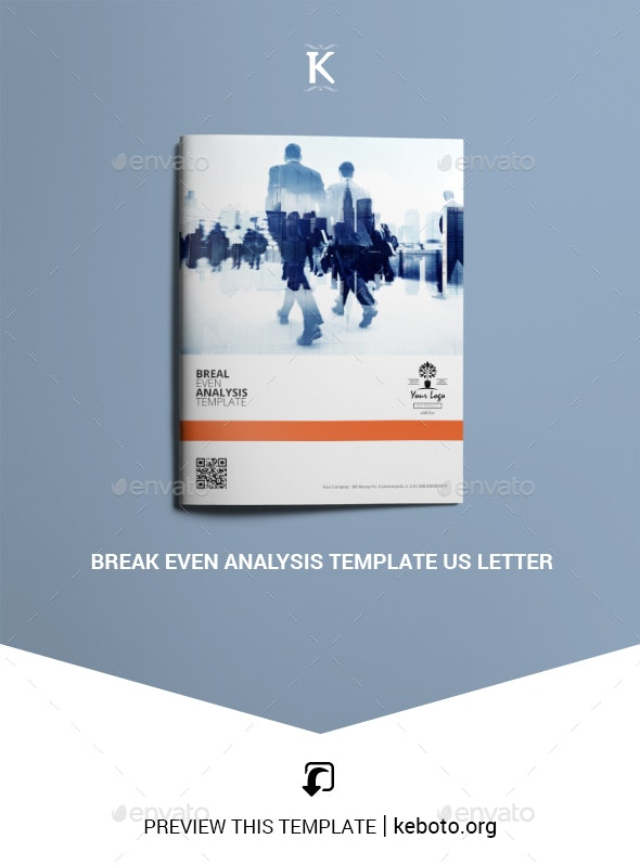 Break Even Analysis Template US Letter - Miscellaneous Print Templates