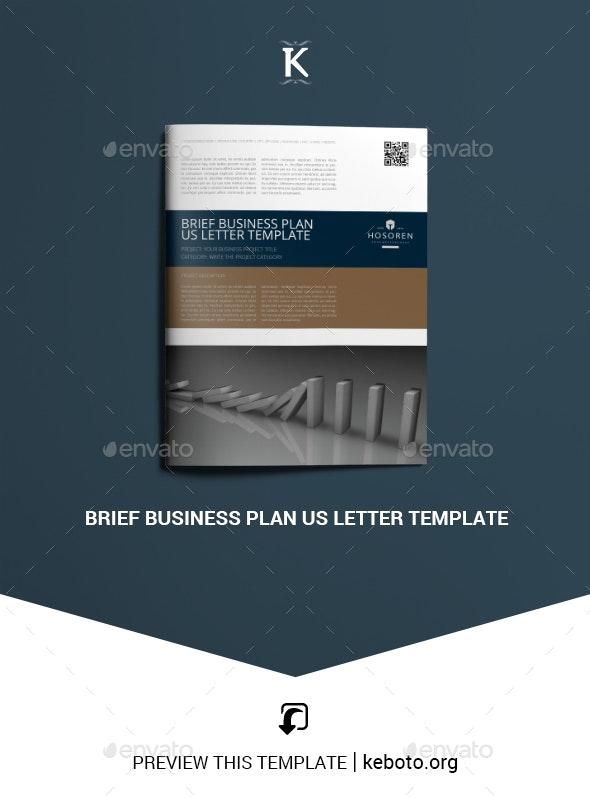 Brief Business Plan US Letter Template - Miscellaneous Print Templates
