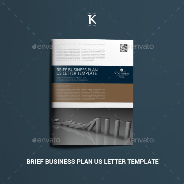 Brief Business Plan US Letter Template