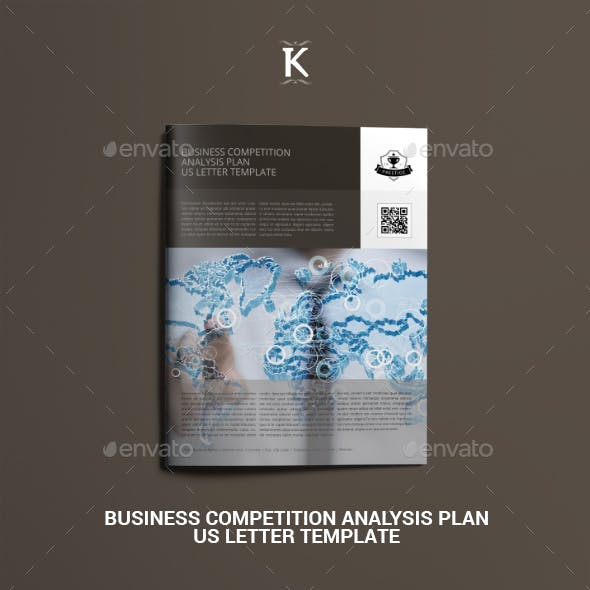 Business Competition Analysis Plan US Letter Template