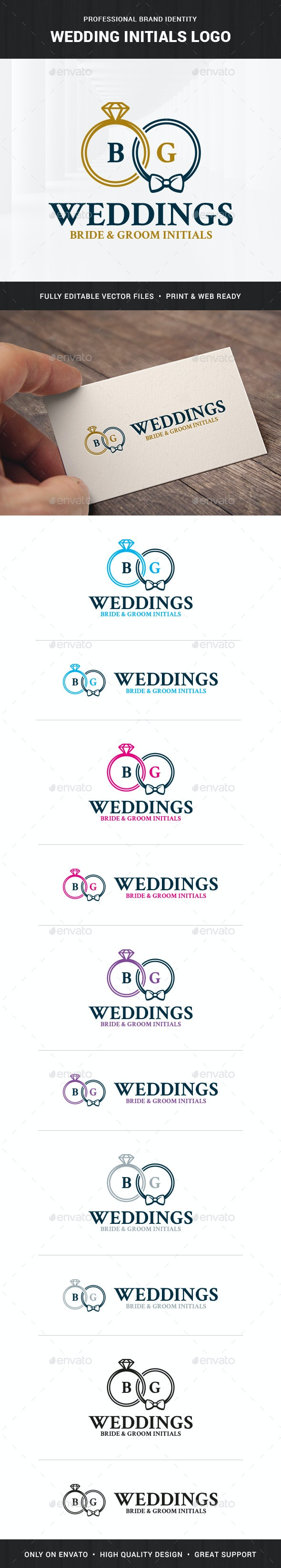 Wedding Initials Logo Template - Letters Logo Templates