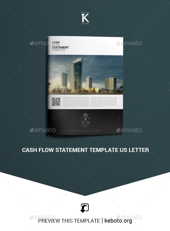Cash Flow Statement Template US Letter - Miscellaneous Print Templates