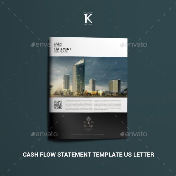 Cash Flow Statement Template US Letter