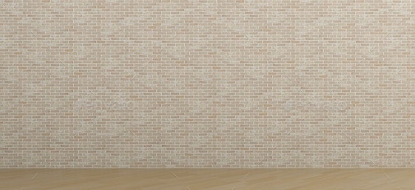 Brick Room & Brick Wall - Background - 3D Backgrounds