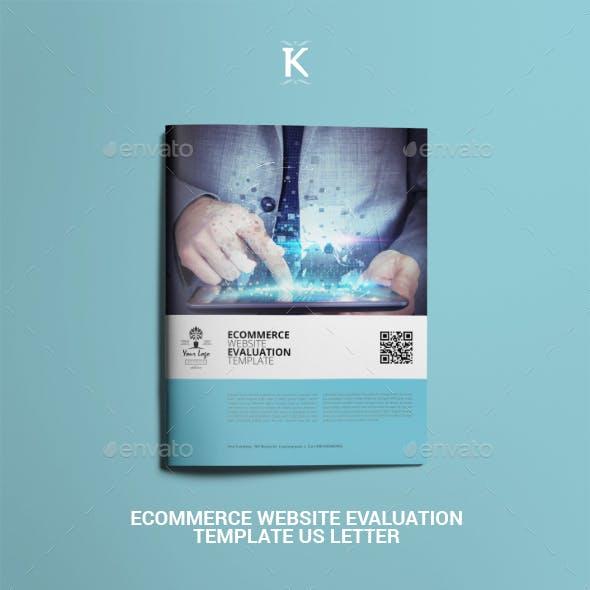 Ecommerce Website Evaluation Template US Letter