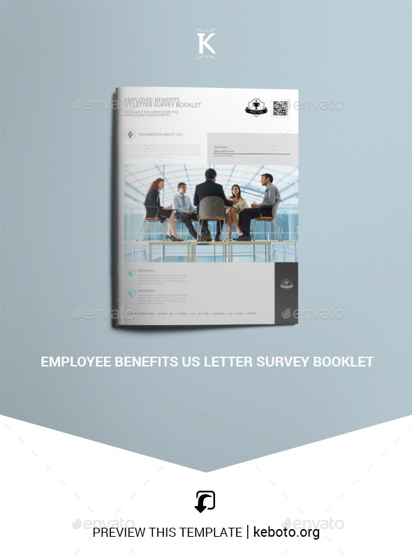 Employee Benefits US Letter Survey Booklet - Miscellaneous Print Templates