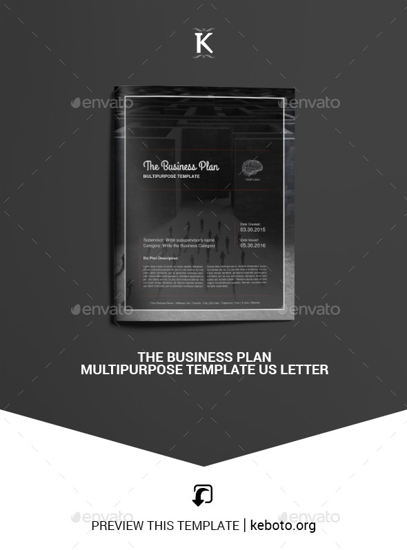 THE Business Plan Multipurpose Template US Letter - Proposals & Invoices Stationery