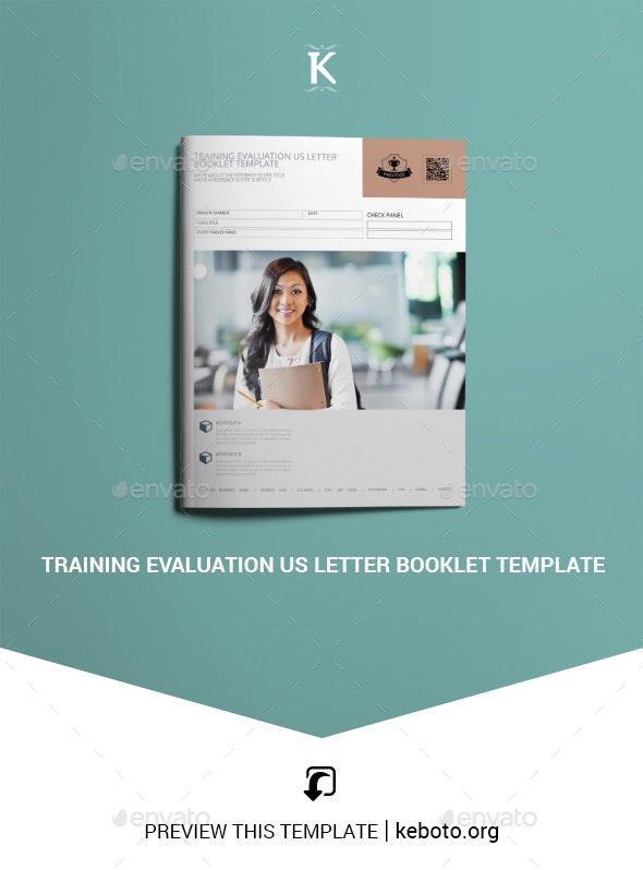 Training Evaluation US Letter Booklet Template - Miscellaneous Print Templates