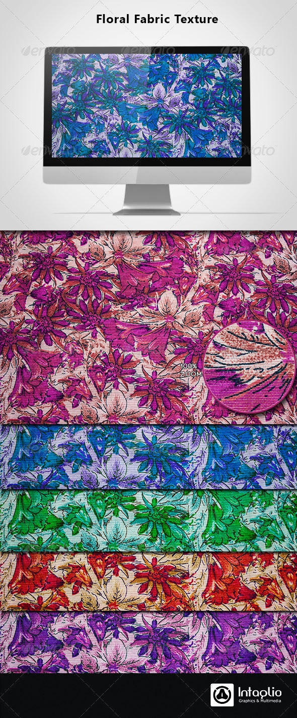 Floral Fabric Texture - Fabric Textures