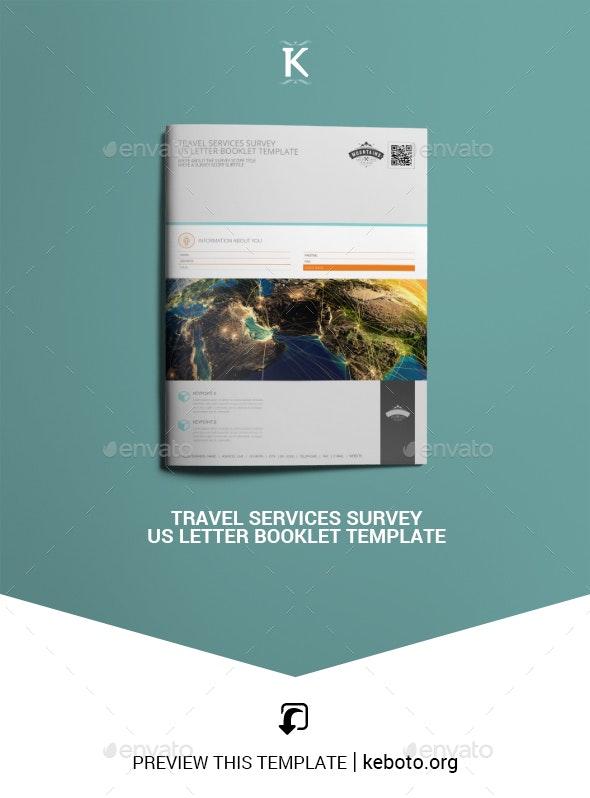 Travel Services Survey US Letter Booklet Template - Miscellaneous Print Templates