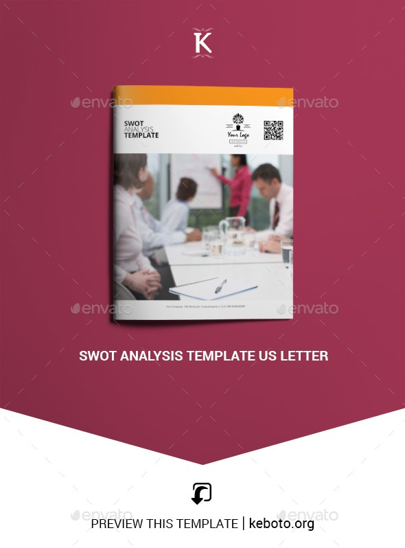 Swot Analysis Template US Letter - Miscellaneous Print Templates