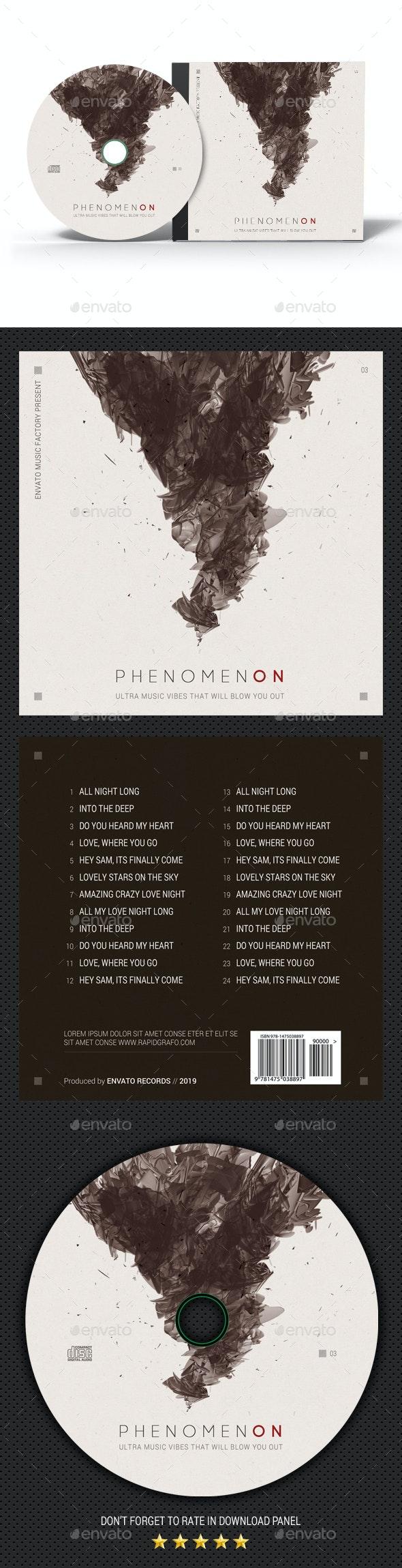 Phenomenon CD Cover - CD & DVD Artwork Print Templates
