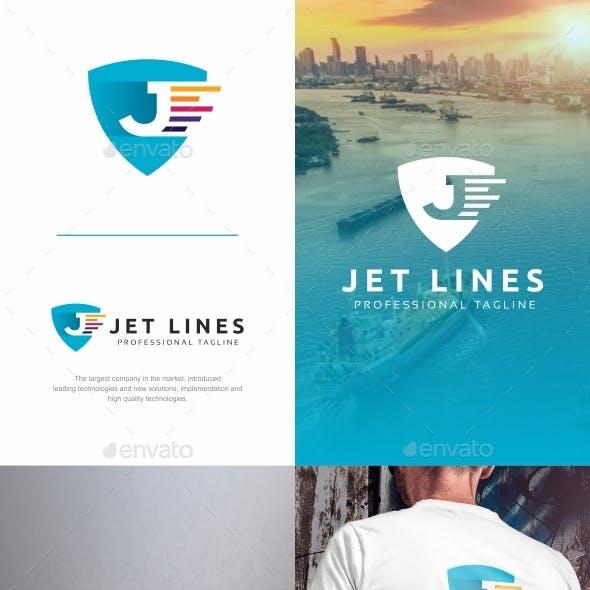 Jet Lines - J Letter Logo