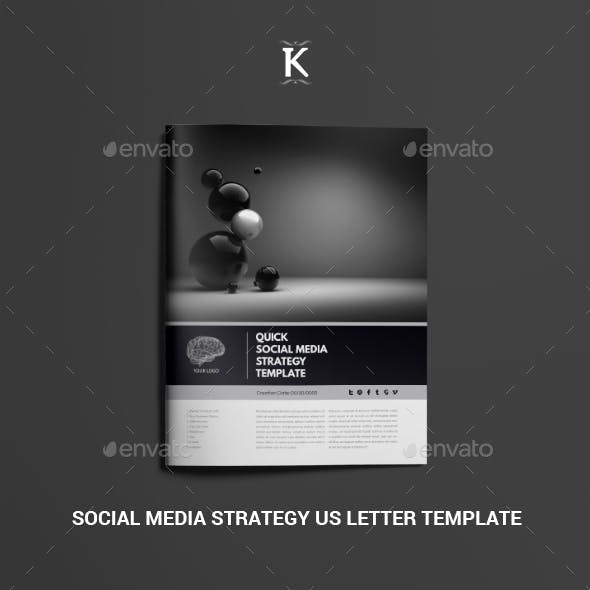 Social Media Strategy US Letter Template