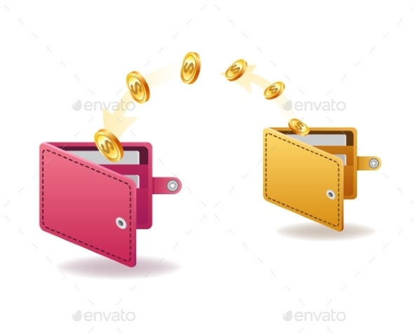 Money Transfer From Wallet to Wallet - Concepts Business