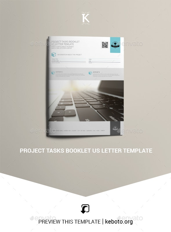 Project Tasks Booklet US Letter Template - Miscellaneous Print Templates