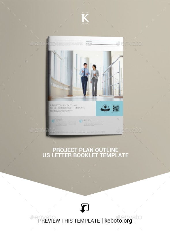 Project Plan Outline US Letter Booklet Template - Miscellaneous Print Templates