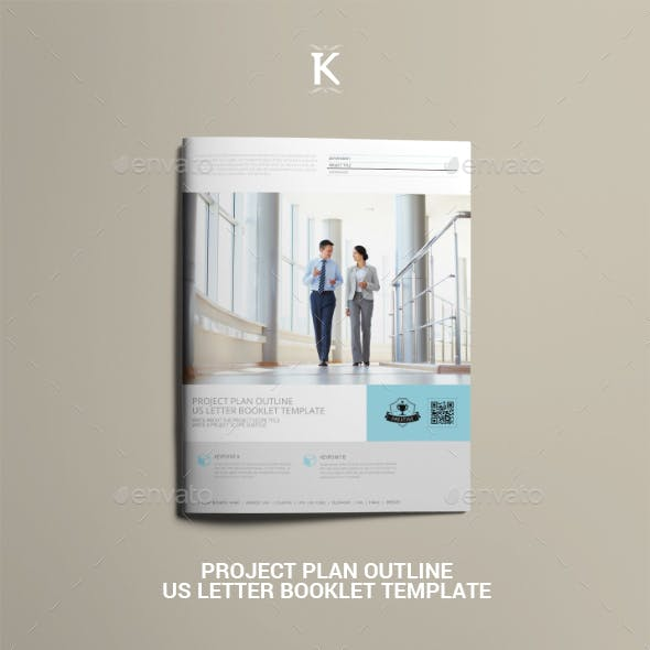 Project Plan Outline US Letter Booklet Template