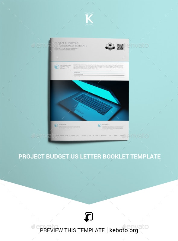 Project Budget US Letter Booklet Template - Miscellaneous Print Templates