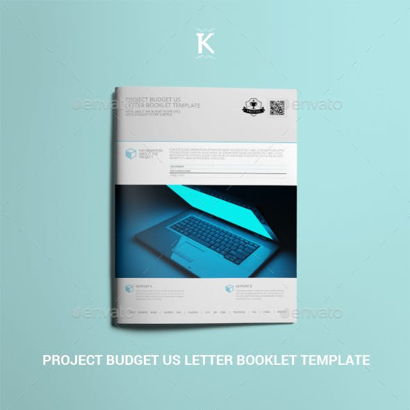 Project Budget US Letter Booklet Template