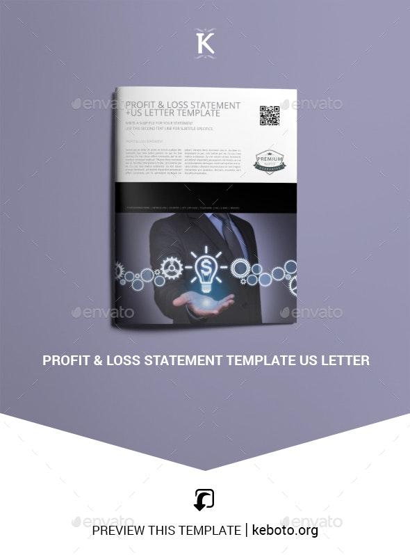 Profit & Loss Statement Template US Letter - Miscellaneous Print Templates