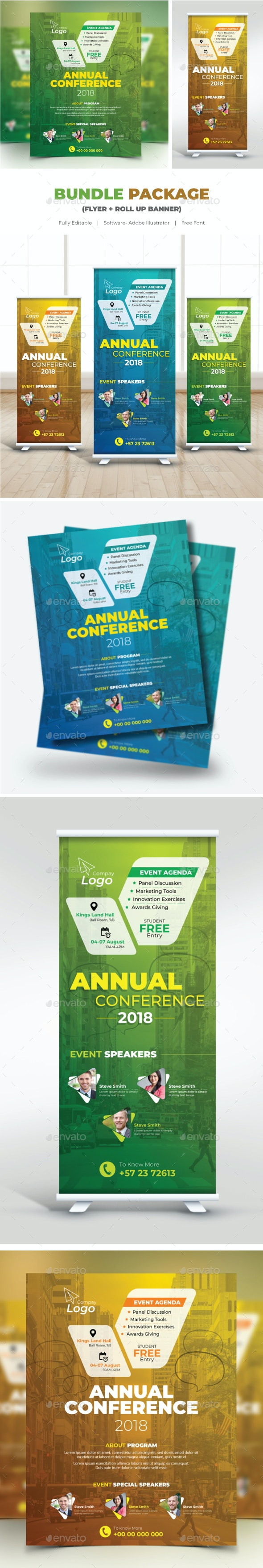Bundle Conference (Flyer+Roll Up banner - Corporate Flyers