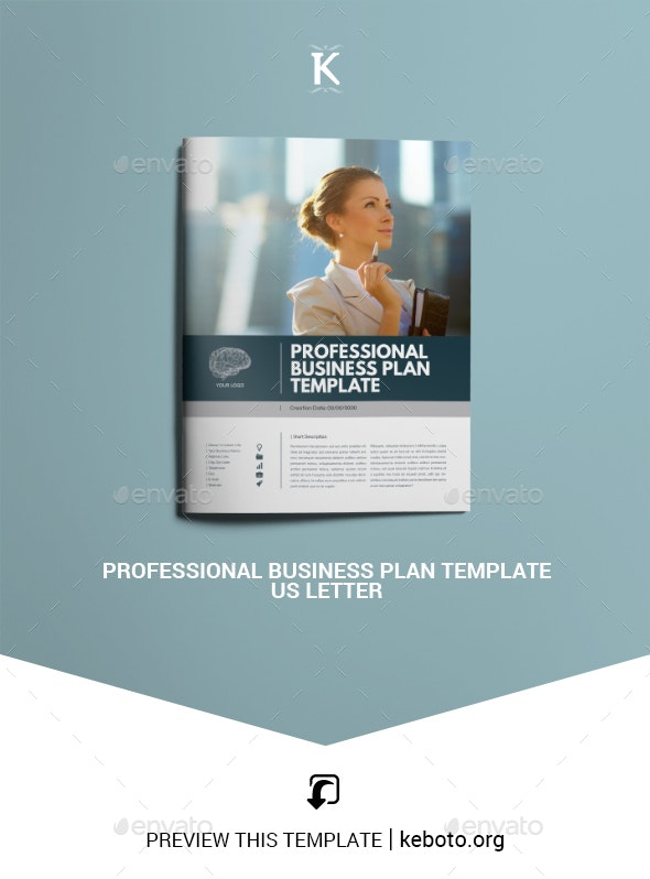 Professional Business Plan Template - US Letter - Miscellaneous Print Templates