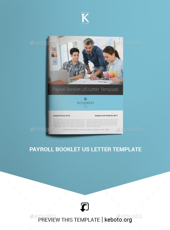 Payroll Booklet US Letter Template